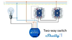 Shelly 1 - Esquemas de conexión 04